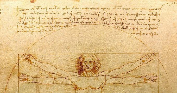 Leonardo da Vinci, L'uomo di Vitruvio (Venezia – Gabinetto dei Disegni e delle S